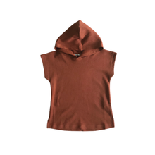 Load image into Gallery viewer, Sleeveless Hooded Tee | Rust - Peridot Kids