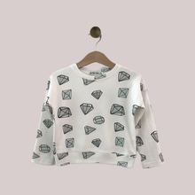 Load image into Gallery viewer, Shine Like a Diamond Drop Shoulder Long Sleeve Top - Peridot Kids