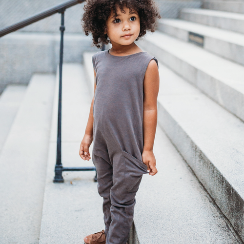 Reversible Jumpsuit | Ink Slate - Peridot Kids