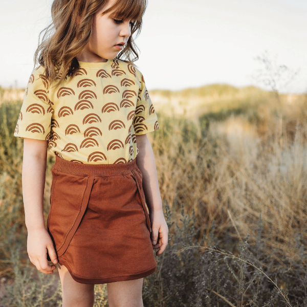 Reversible Tulip Skirt - Peridot Kids
