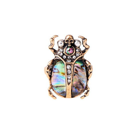 Multicolor Skull Insect Ring