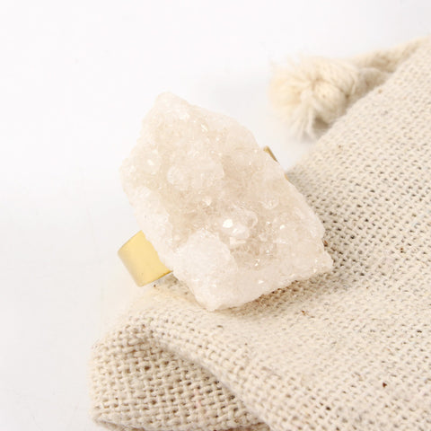 Adjustable Irregular Natural Stone Ring