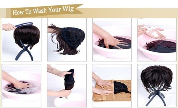How do you clean a synthetic wig?