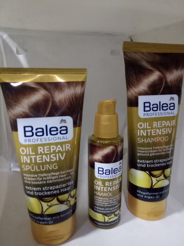Pack Oil Repair Balea Shampoing + Demelleur + Serum