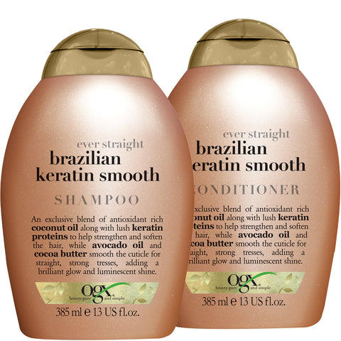 Pack Shampoing +Conditioner  Brazilian Keratin Smooth 385 ml