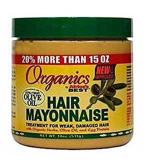ORGANICS Organics Africa's Best Organic Hair Mayonnaise 511g, 18 oz,Treatment for Weak ,Damaged Hiar