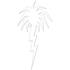 Lightning Palm Tree