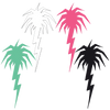 Lightning Palm Tree Diecut Sticker Pack