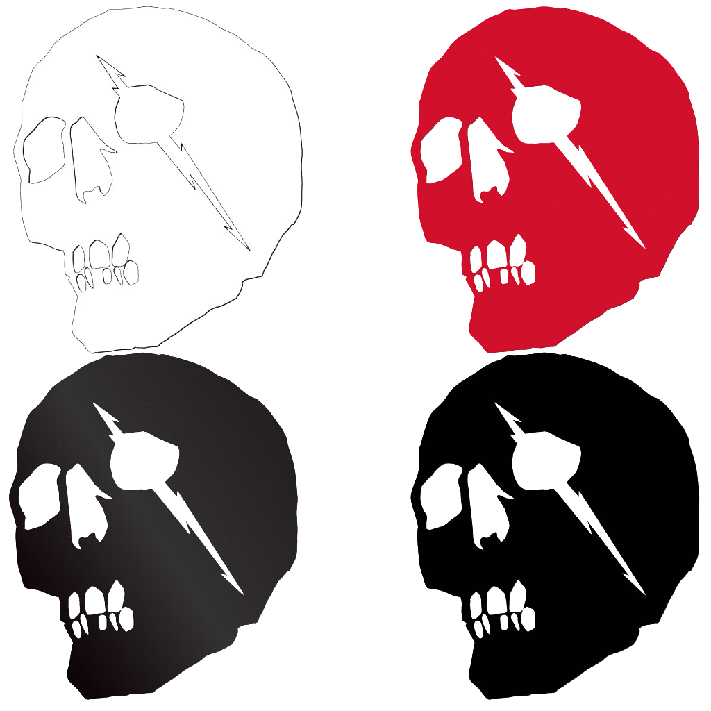 Merchant skull sticker pack