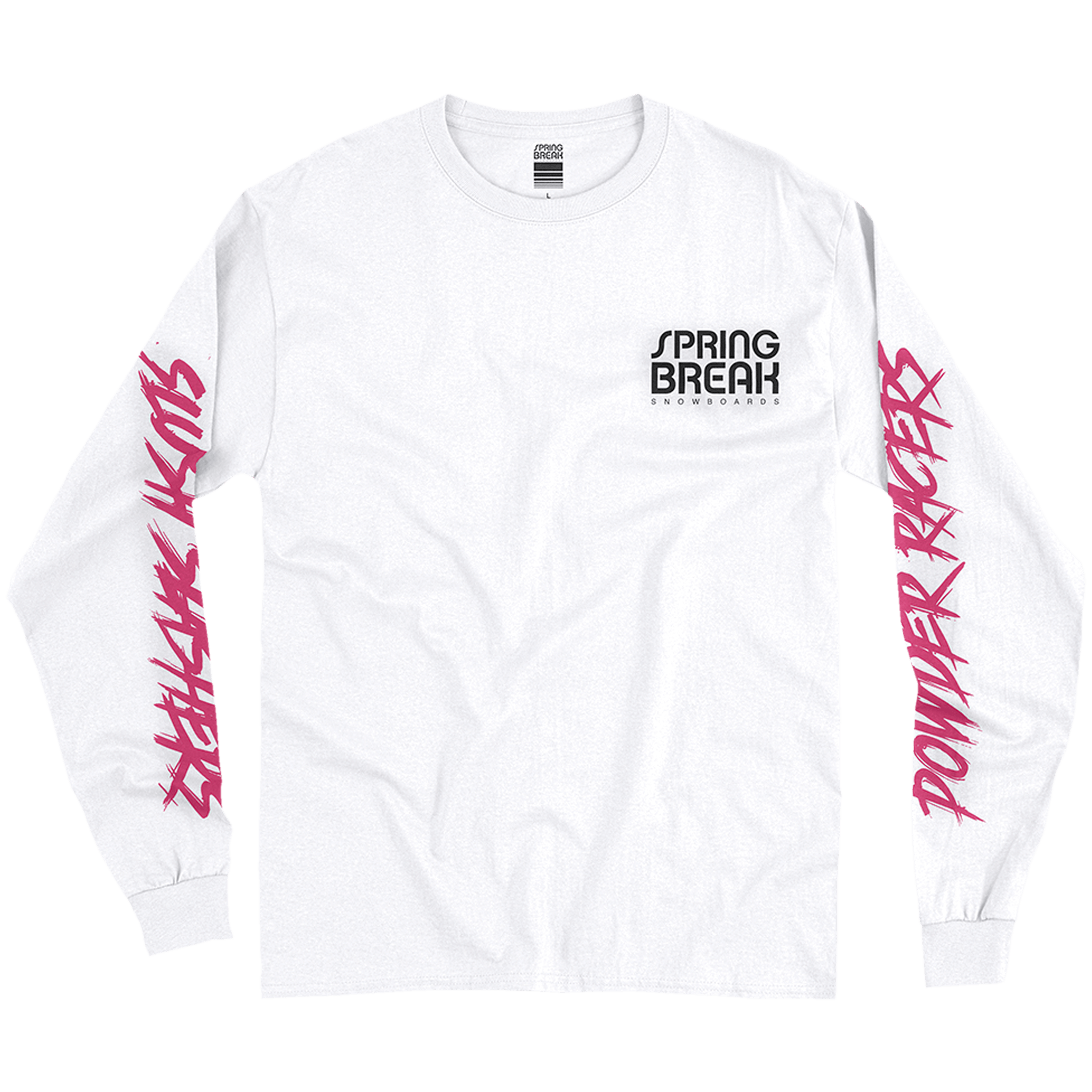 Spring Break Powder Racers Long Sleeve Tee