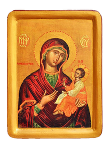 "Icon ""Our Lady of Perpetual Help"" Amolintos  (XVII cent.) - Christian Icons"