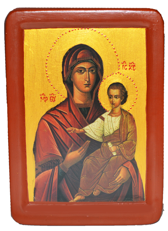 "Icon ""Virgin Hodegetria"" or ""Our Lady of the Way"" - iconographer Juvenal Mokritsky - Christian Icons"