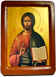 "Icon ""Christ Pantocrator"" by  iconographer Juvenal Mokritsky - Christian Icons"