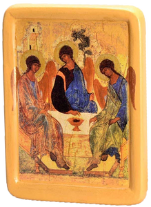 "Icon ""The Holy Trinity"" Andrei Rublev, (XV cent.) - Christian Icons"