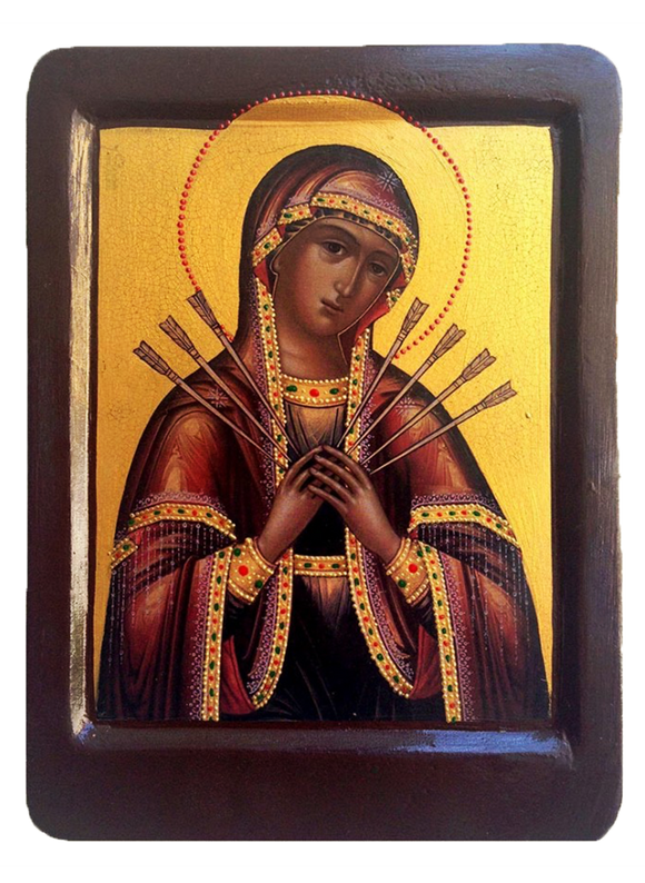 "Icon ""Virgin of Sorrows - Seven Arrows"" - Christian Icons"