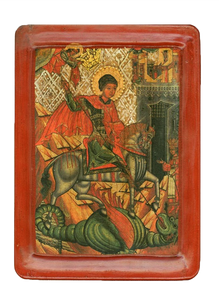 "Icon ""St. George the Dragonslayer"" (XVI cent.) - Christian Icons"