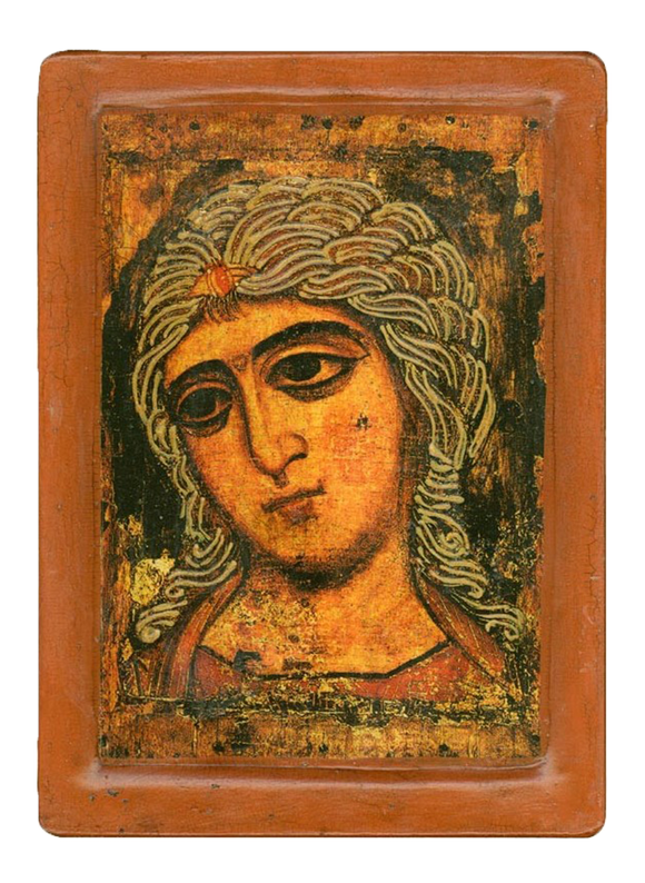"Icon "" Archangel Gabriel (Angel with Golden Hair)"" XII century. - Christian Icons"