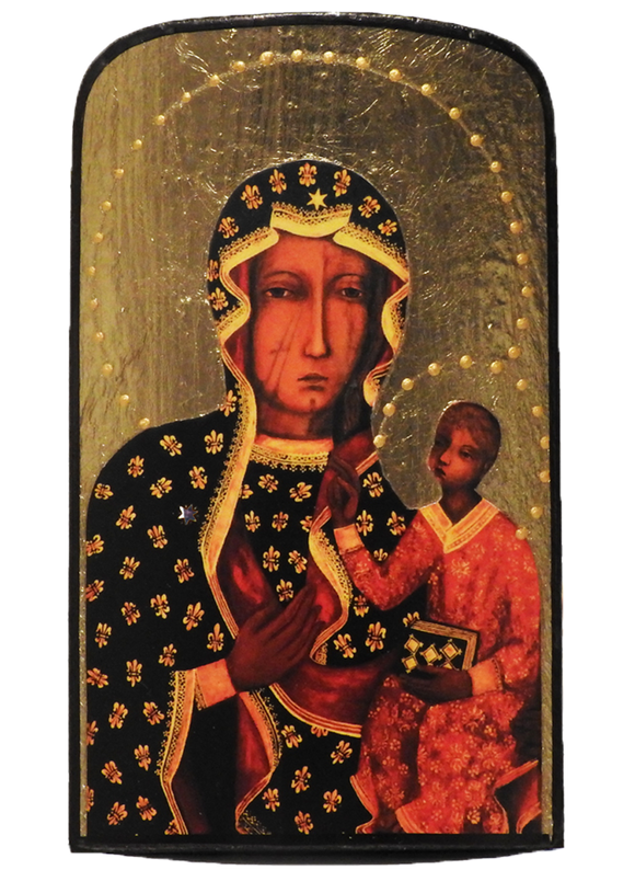 "Traveling Icon ""Our Lady of Czestochowa"" - Christian Icons"