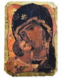 "Fresco ""Vyshhorodska God's Mother"" (Volodymyrska)"" - Christian Icons"