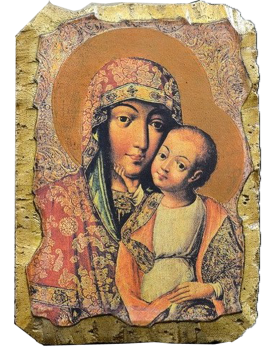 "Fresco ""Our Lady of Tenderness"" - Christian Icons"