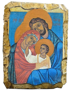 "Fresco ""Holy Family"" - Christian Icons"