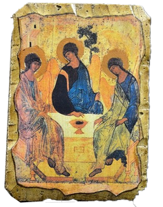 "Fresco ""Holy Trinity"" Rublev - Christian Icons"