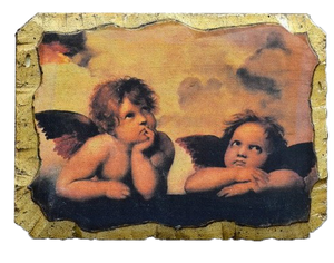 "Fresco ""Angels of Raphael"" - Christian Icons"