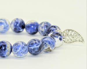 Sodalite & Leaf - Communication, Inner Journey, Expansion, Intuition & Inner-Peace