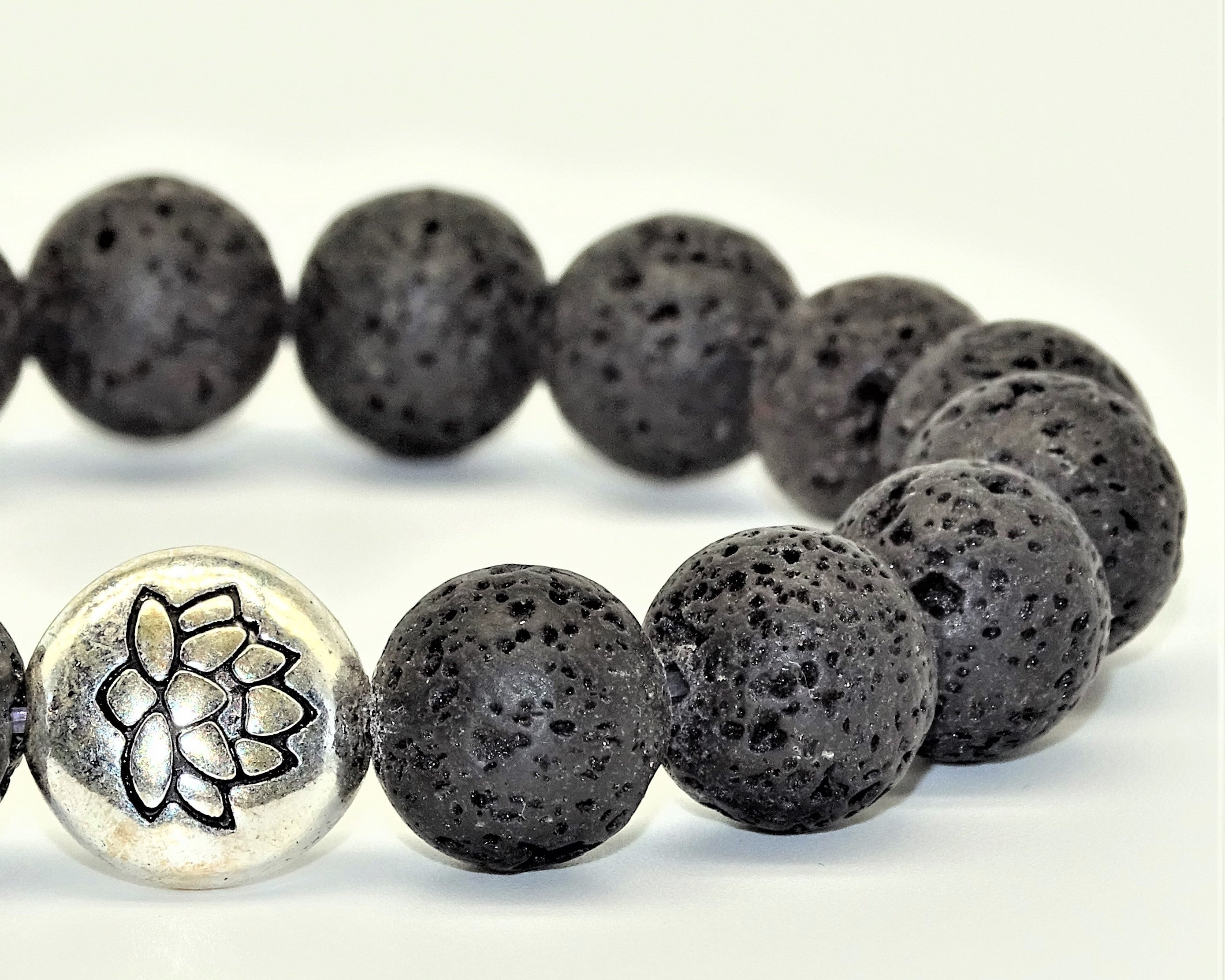 Lava Stone, Lotus Flower - Grounded, Power & Courage