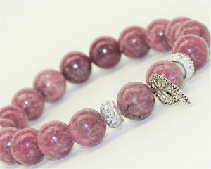 Lepidolite & Leaf - Tranquility, Transition & Boundaries