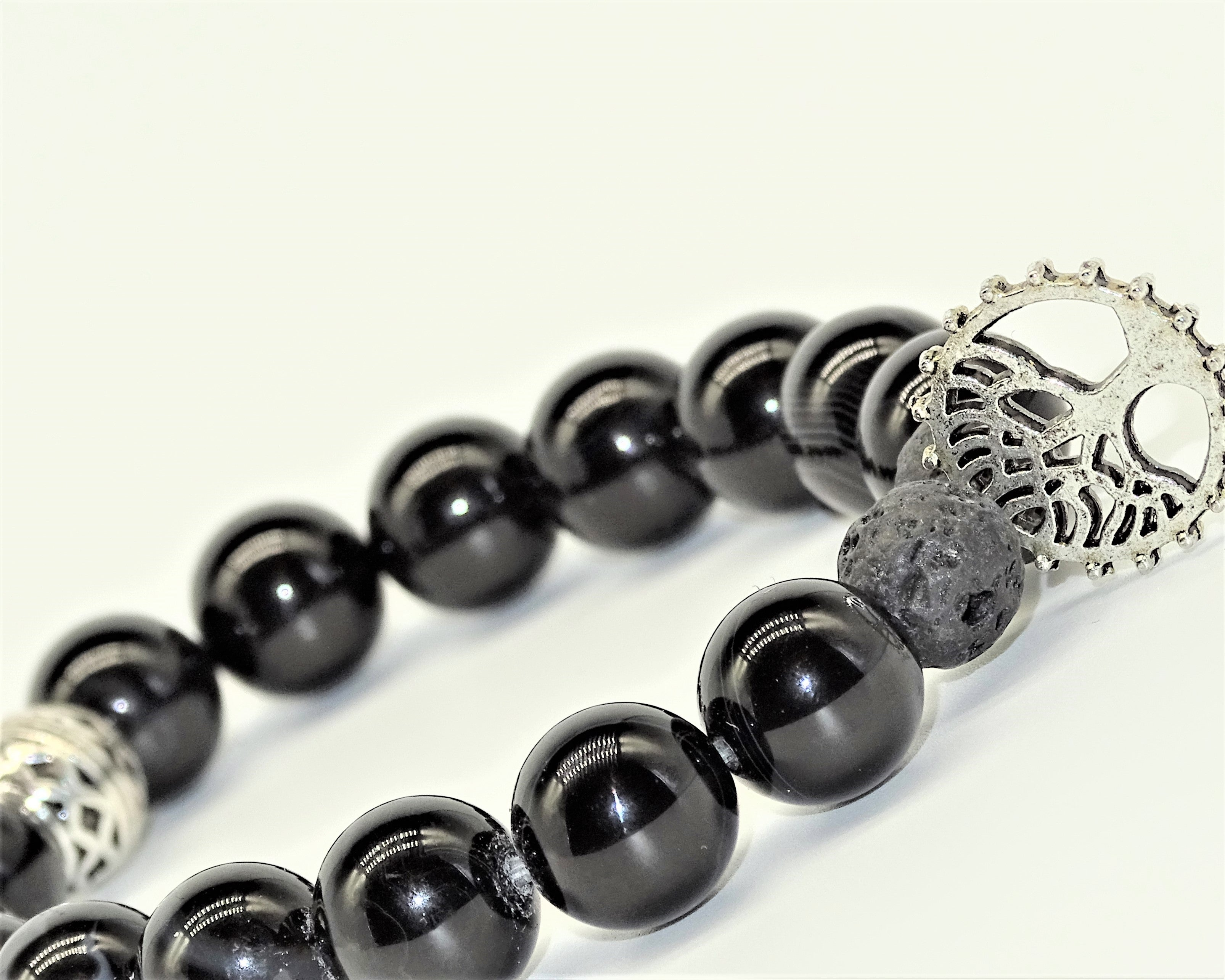 Black Obsidian & Lava Stone, Tree of Life - Protection, Courage, Deep Healing & Fresh Start