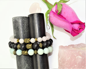 Rose Quartz & Hematite, Faceted - Unconditional Love