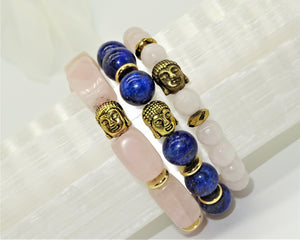 Lapis Lazuli Golden Buddha - Protection, Expression and Psychic Growth