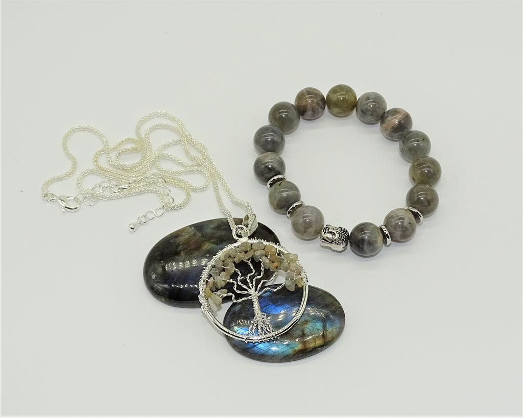 Labradorite Tree of Life-Ultimate protection, Self-Discovery & Wisdom of the Universe