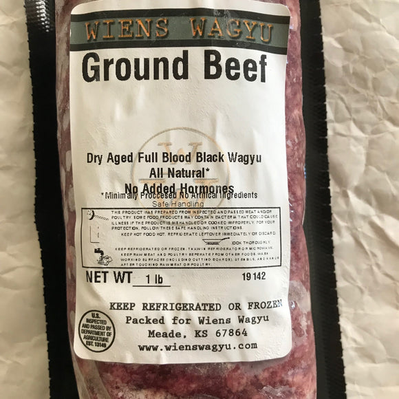 Fullblood Black Wagyu Ground Beef | Wiens Wagyu