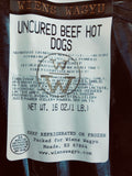 Fullblood Black Wagyu Uncured Hot dogs (Fully Cooked)