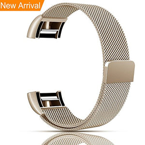 Fitbit Charge 2 Bands, Vancle Adjustable Milanese Loop, Stainless Steel  Metal Band Bracelet Strap with Magnetic Closure Clasp