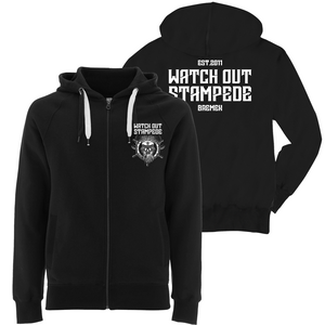 Watch Out Stampede - Captain Maik - Hooded Zipper (black) - Redfield Records