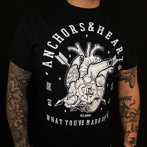 Anchors & Hearts - What You've Made Of Me - T-Shirt (Black) - Redfield Records