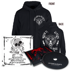 Anchors & Hearts - Guns Against Liberty - Hoodie & CD - Redfield Records