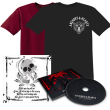 Anchors & Hearts - Guns Against Liberty - T-Shirt & CD - Redfield Records