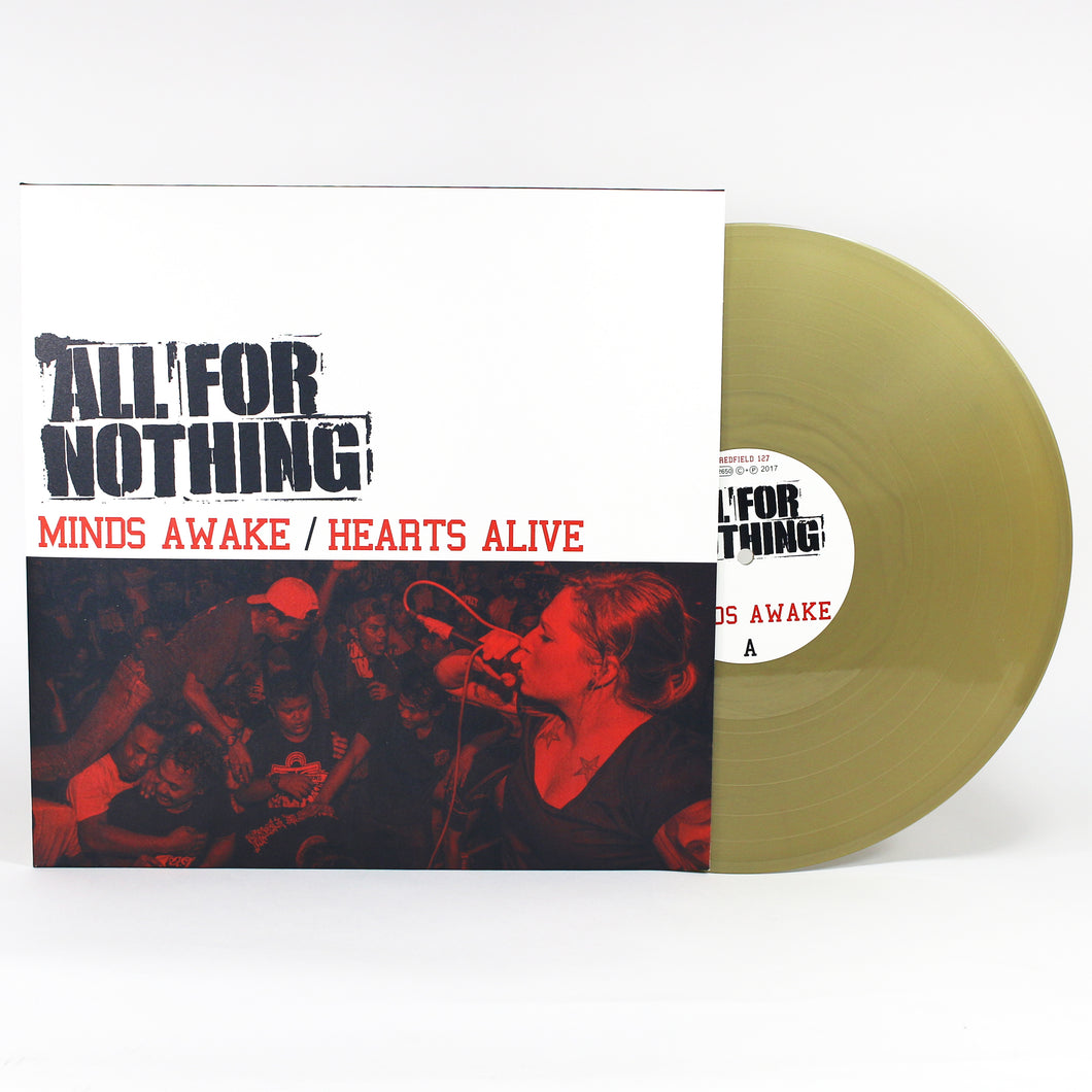 All For Nothing - Minds Awake / Hearts Alive - Vinyl Gold LP (2017) - Redfield Records