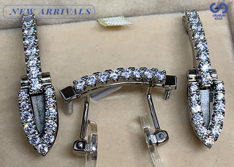 Authentic Cafr' .5 pointer Prong Diamond Set VVS Quality 5 piece set