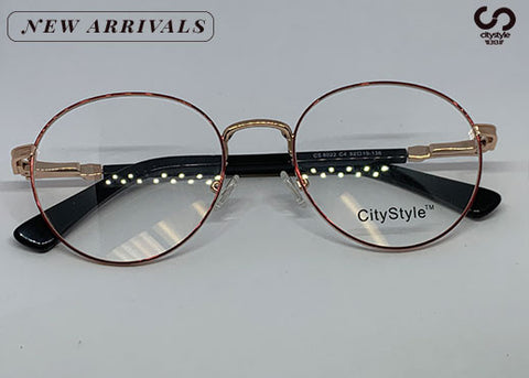 CityStyle Authentic CS 8022 Clear Ovals with/ Rose Gold Frame
