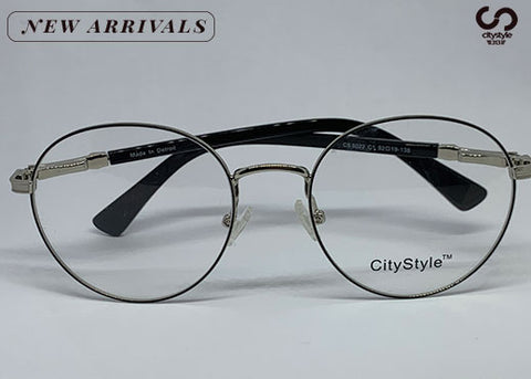 CityStyle Authentic's Clear Ovals w/ Silver Frame