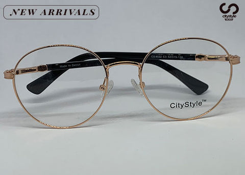 CityStyle Authentic CS 8022  Gold Ovals Clear Eyeglasses