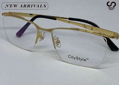 CityStyle Authentic CS BT0016 Eyeglasses Clear Lenses with/ Gold Frame