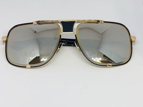 CityStyle Authentic Capital Frame Aviators w/ Gold Mirror Hennessy Tint Diamond Facet Lenses