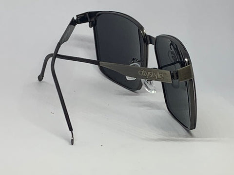 CityStyle Authentic Solar Aviator Sunglasses w/  Dark Smoke Grey Solid Tint Lenses