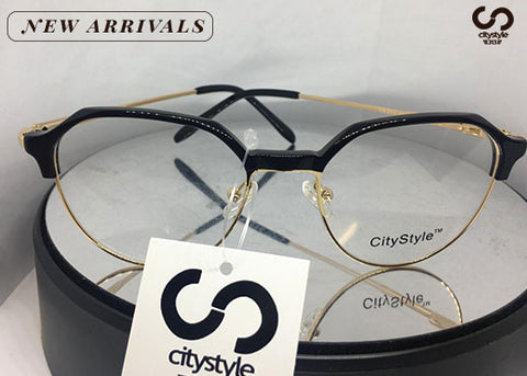 City Style Authentic  CS2111 Gold & Black Acetate Eyeglasses
